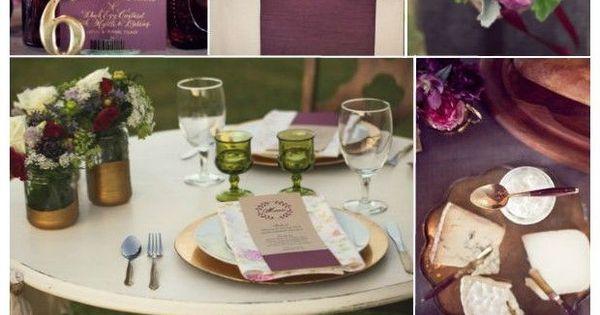 Top 5 Rustic Shades of Plum Wedding Ideas...plum so much elegant and