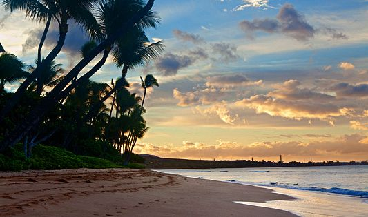 Ka'anapali Beach Sunrise, Maui, Hawaii. Beautiful Places Photography