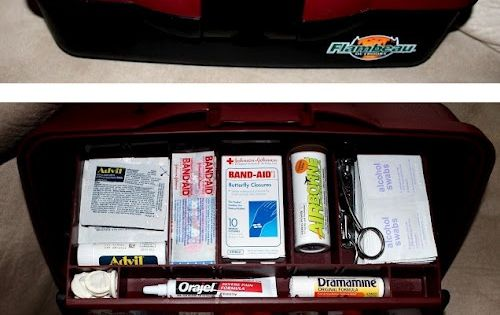 Home FirstAid Kit made with Fishing Tackle Box!! Good idea!!