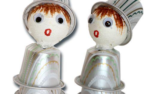 Personnage no l en capsules de caf t te modeler personnage de noel caf et personnage - Tete a modeler noel ...