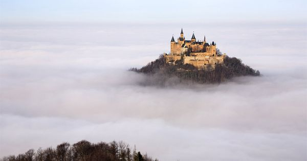 Fairy Tale castle in germany floating above the clouds Magical! http://antiqueandvintagejewelleryuk.com