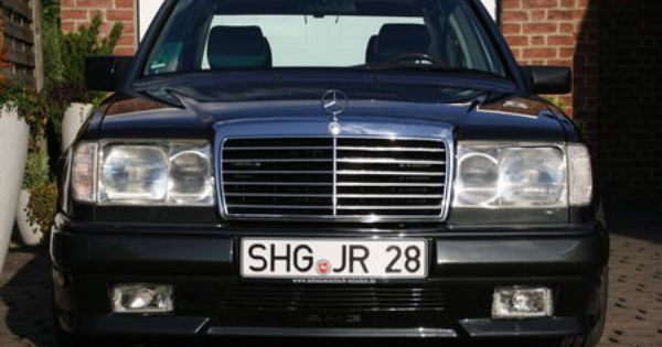 mercedes w124 with amg front bumper euro headlights and. Black Bedroom Furniture Sets. Home Design Ideas