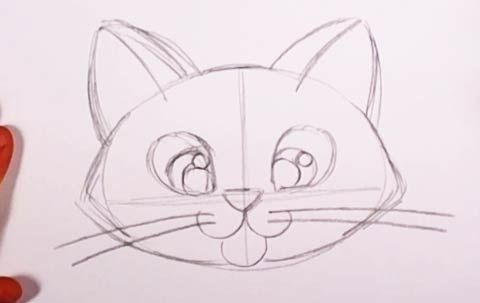 Cute Kitten Drawing Lesson Easy Cat For Kids To Draw Step By Step Kitten Drawing Drawing Lessons Drawings