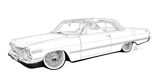 lowrider coloring pages - Google Search | cars to draw ...