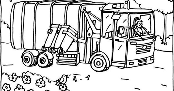 Buurman En Buurman Kleurplaat Verjaardag Vuilniswagen Kleurplaat Kleurprent Vuilniswagen Afval