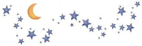 Moon and Stars Border | Designer Stencils | Star stencil, Stencil patterns, Stencils printables