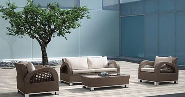 baidani rattan garten lounge set mikonos | gartenxxl.de | outdoor, Garten und Bauten