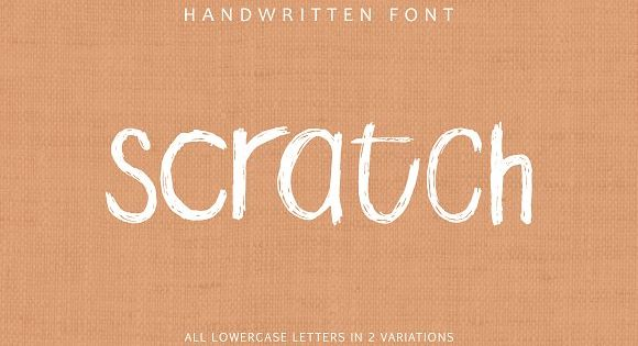 Scratch is a simple handwritten all lowercase font.