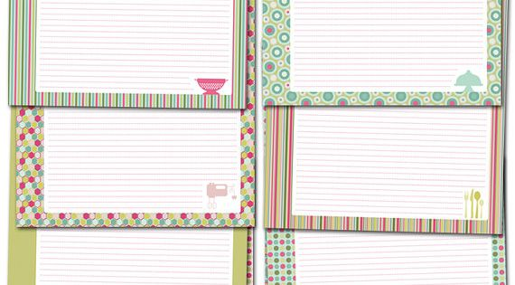 Printable Recipe Binder Pages. Very easy to type in your recipes!