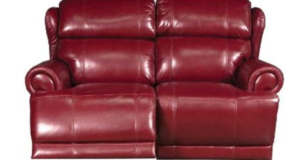 Swell 64 Inch Burgundy Leather Power Reclining Loveseat Leather Inzonedesignstudio Interior Chair Design Inzonedesignstudiocom