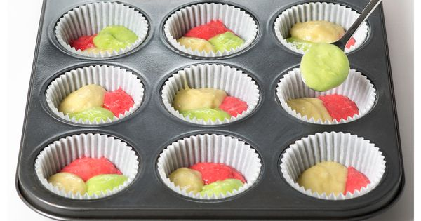 Tie-dye Fruity Cupcakes #recipe - Where lemon, lime and strawberry ...