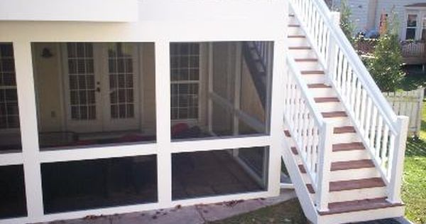 Upper Deck With Lower Level Screened Room In St Louis Patio