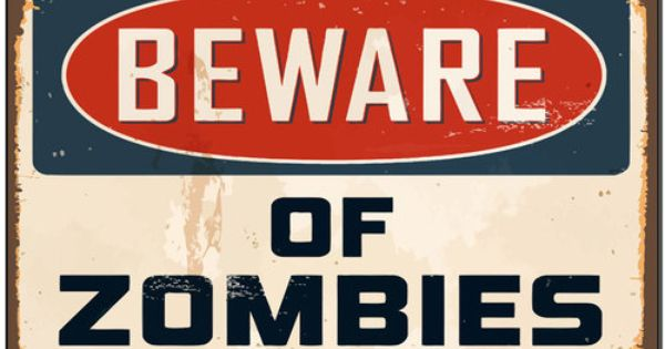 Man Cave Signs For Sale Australia : Warning beware of zombies funny metal sign bar man cave
