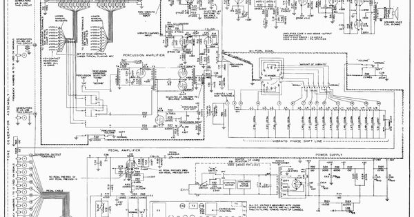 electric guitar wiring diagram for schecter schematic for a hammond m3 organ schematics pinterest