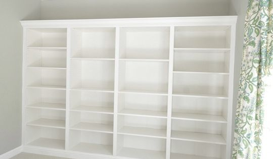Create built in bookshelves with your ikea bookcases! Brilliant