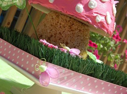 Fairy Party - rice Krispy treat fairy cake