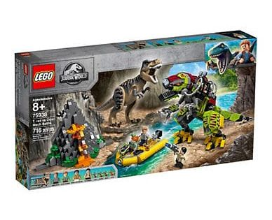 Lego Jurassic World T Rex Vs Dino Mech Battle 75938 Lego