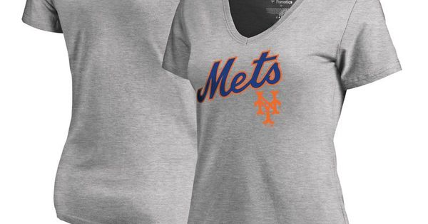 New York Mets Fanatics Branded Women S Cooperstown Collection Wahconah V Neck T Shirt Ash Long Sleeve Tshirt Men Plus Size T Shirts Shirts