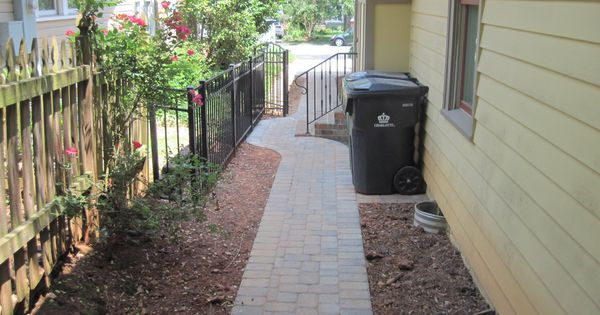 Paver Walkway To Get From Driveway To Back Patio With A