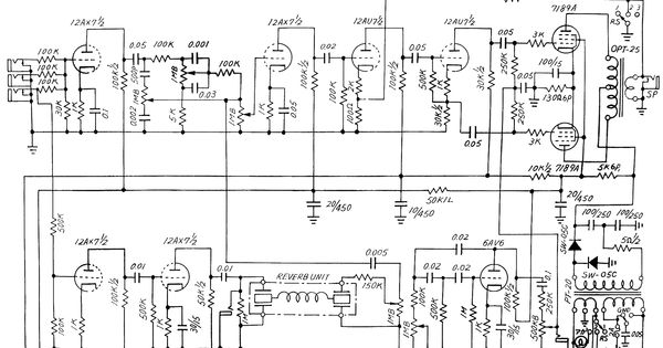 Teisco Checkmate 20 diagram Cool Amps Pinterest