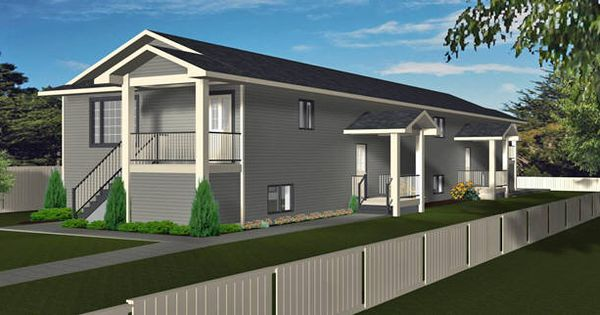 Plan 2013712 Narrow Lot 4 Plex By