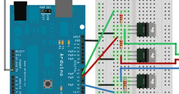 Arduino Controlled 12v Rgb Led Strip Arduino Led Arduino Rgb Led