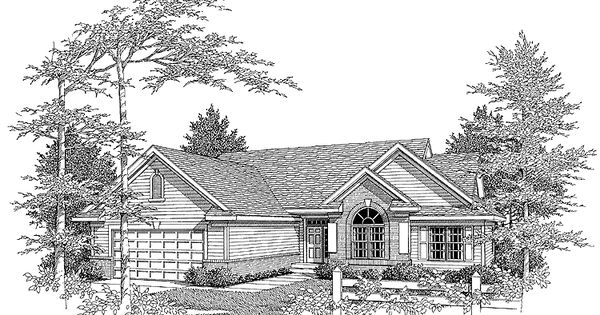 Eplans new american house plan brick and siding ranch for How big is a square of siding
