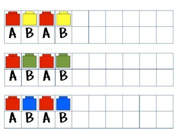 Ab Pattern Cards With Unifix Cubes Blocks Bears Ab Patterns