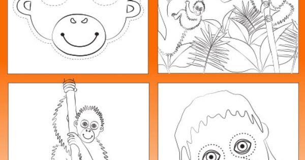 Orangutan Colouring & Activity Book Printable- Colour In