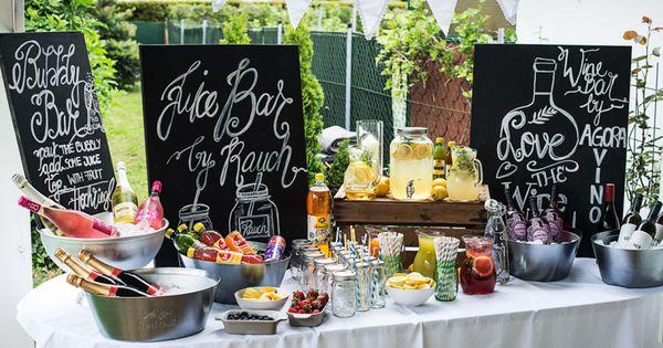 juice, juice bar, vintage juice bar, drink buffet, party drinks, drink ...