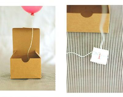 First birthday party invites- Helium balloon invitations!