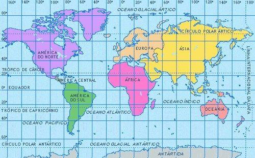 Mapa Mundi: Herramienta Geografica para ubicar Destinos | Mapas, Imágenes  de mapas, Latitud y longitud