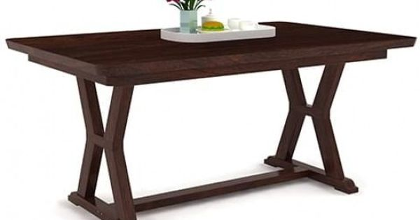 Other Home Furnitures Bangalore Furniture Manufacturers: Shop Online Horizon Dining Table In Walnut Finish And