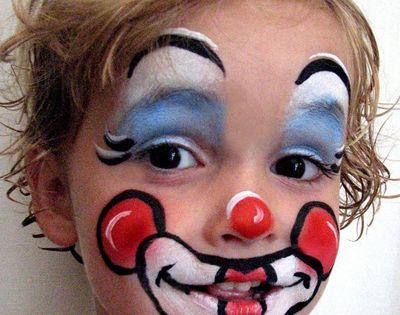 Maquillage enfant clown clowns et animation for Miroir qui fait peur
