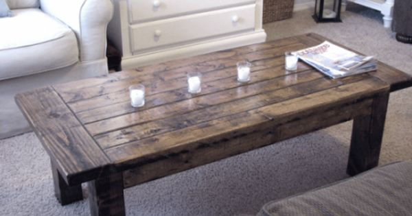 Farmhouse Coffee Table. $150.00, via Etsy. will get a wood coffee table