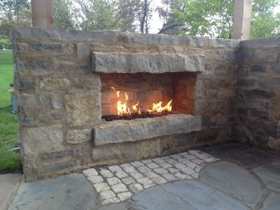 Picures Of Outdoor Natural Gas Propane Fireplaces With Fireglass Natural Gas Outdoor Fireplace Outdoor Gas Fireplace Backyard Fireplace