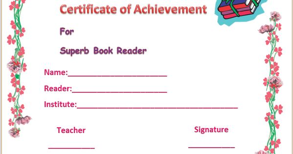 biggest loser certificate template - colorful best reader certificate of appreciation template