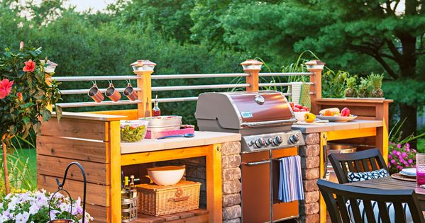 Get The Look Of An Expensive Outdoor Kitchen For Less