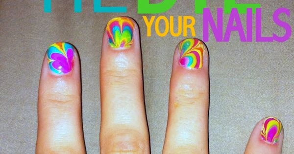 Tie dye nails! I love tie-dye stuff so this is awesome