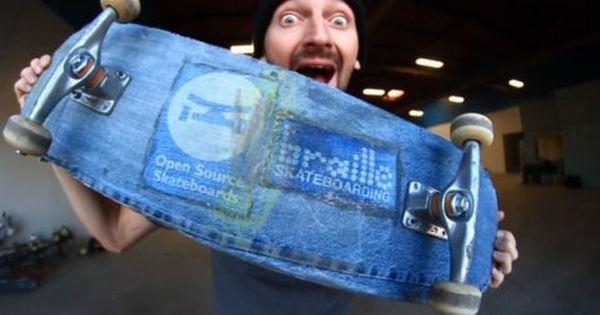 A Skateboard Made Of A Denim You Make It We Skate It Ep 70 Dailyskatetube Com Skateboard Skateboarding Made Simple Skate