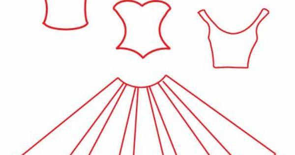 Paper dress pattern