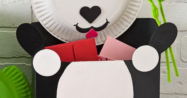Kids Craft Blog by PlaidOnline.com - Teaching Thursdays: Panda Bear Valentine Card