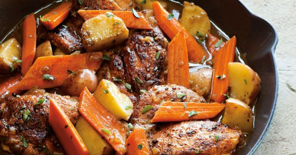 BraisedChicken and wine w/carrots and potatoes