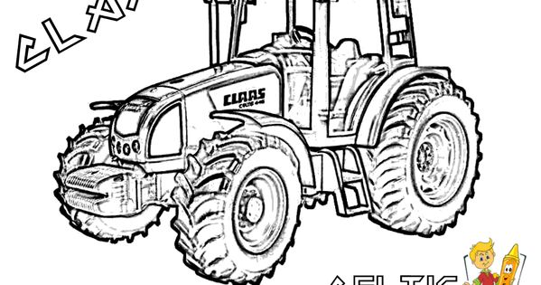 Dessins imprimer dessin a imprimer de tracteur sur play the net dessin pinterest craft - Coloriage tracteur claas ...