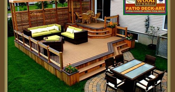 PATIOS BOISMODELEDESIGN PLAN  IPE DECK  CEDRETREX  Decks ...