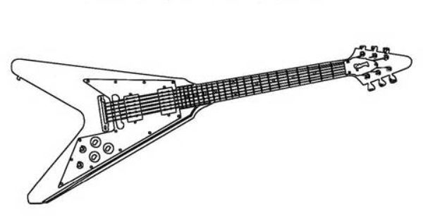 Electric Guitars Coloring Pages