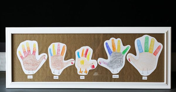 Thanksgiving idea: hand print turkey family