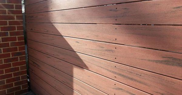 Jarrah Screen Create Privacy Modwood Widedecking Screen Fence Fence Design Timber Deck Backyard