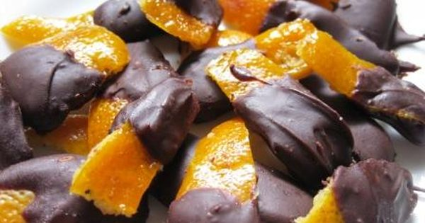 Chocolate-Dipped Candied Orange Peel. This kind is made ...