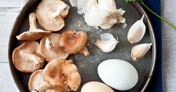 Scrambled eggs, Garlic mushrooms and Eggs on Pinterest
